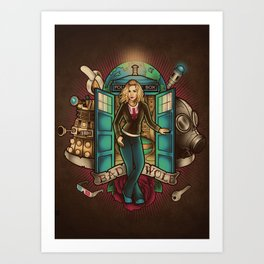 I am the Bad Wolf Art Print