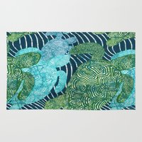 turtles Area & Throw Rugs featuring sea turtles by Ariadne