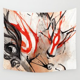 Okami Amaterasu Ink Wall Tapestry