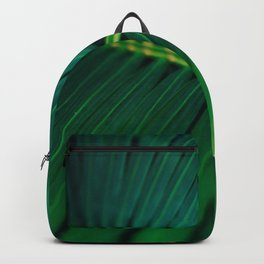 Green Leaf Palm Frond Photo Backpack