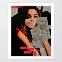 Fight by hubert neal jr Art Print