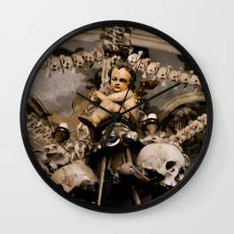 in the midst of life we are in death et cetera Wall Clock