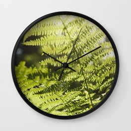 Sun leaf Wall Clock