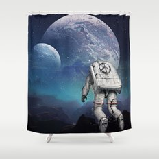 Searching Home Shower Curtain