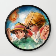 Sophie and Howl from Howl's Moving Castle Tra-Digital Painting Wall Clock