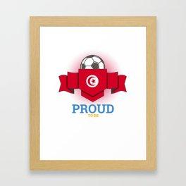 Football Tunisia Tunisians Soccer Team Sports Footballer Goalie Rugby Gift Framed Art Print