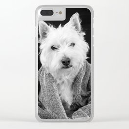 I hate Mondays Westie Dog Clear iPhone Case