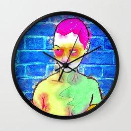 """The Wonderful Stank Eye"" By Nacho Dung. Wall Clock"
