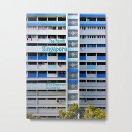 FRONT- Singapore HDB Flat Metal Print