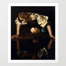 Narcissus Caravaggio, 1594 -1596 Art Print