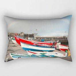 Rainbow at the harbour Rectangular Pillow