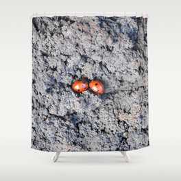 Lady and Gentleman Bug Shower Curtain