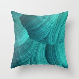Turquoise Sediment Throw Pillow