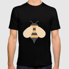 #81 Bee Mens Fitted Tee Black MEDIUM