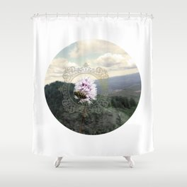 Ancient Dance Bee Mountain Bees Wildflower Shower Curtain