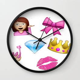 Girly Emoji Compilation  Wall Clock