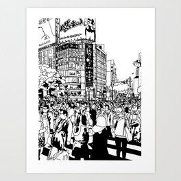 Shibuya Crossing, Tokyo Art Print