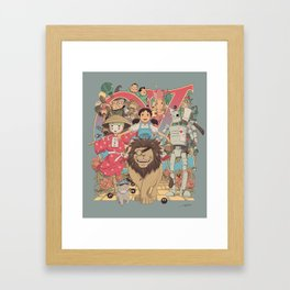 The Road to Oz Framed Art Print