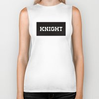 knight Biker Tanks featuring KNIGHT by Vancouver Neighbourhoods Project