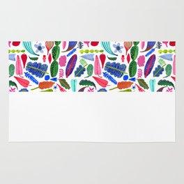 colorful plants Rug