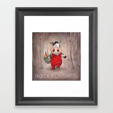 Rotkaelbchen Framed Art Print