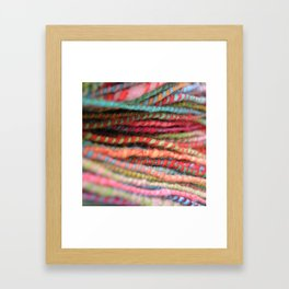 Handspun Yarn Color Pattern by robayre Framed Art Print