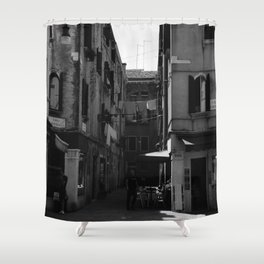 Calle Marcello b&w Shower Curtain