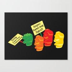 Stop Gummibear Cruelty! Canvas Print