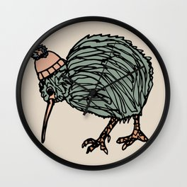 Autumn Kiwi Bird Wall Clock