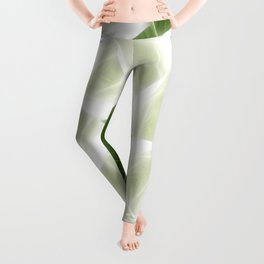 Green White Kaleidoscope Art 9 Leggings