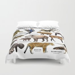 Animals of the Pantanal Duvet Cover