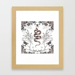 Rose Gold Snake Framed Art Print