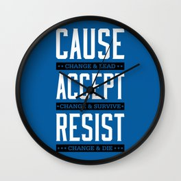 Lab No. 4 Cause Change And Lead Ray Noorda Inspirational Wall Clock