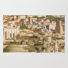 Rome Aerial View From Saint Peter Basilica Viewpoint Rug