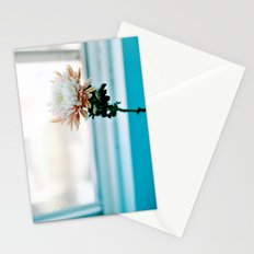 White and Pink Chrysanthemum Stationery Cards