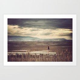 Lagunas de Pitillas Art Print