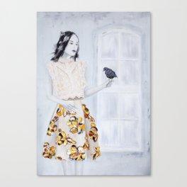 Bird Lady Canvas Print
