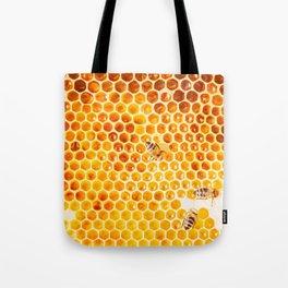 Honeycomb & Honeybee Tote Bag