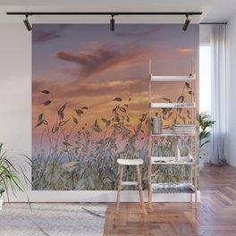 Summer sunset. Wonderful fields Wall Mural