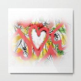 Pink hearts Metal Print