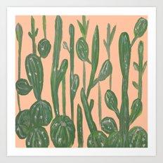 Desert Town Meeting Art Print