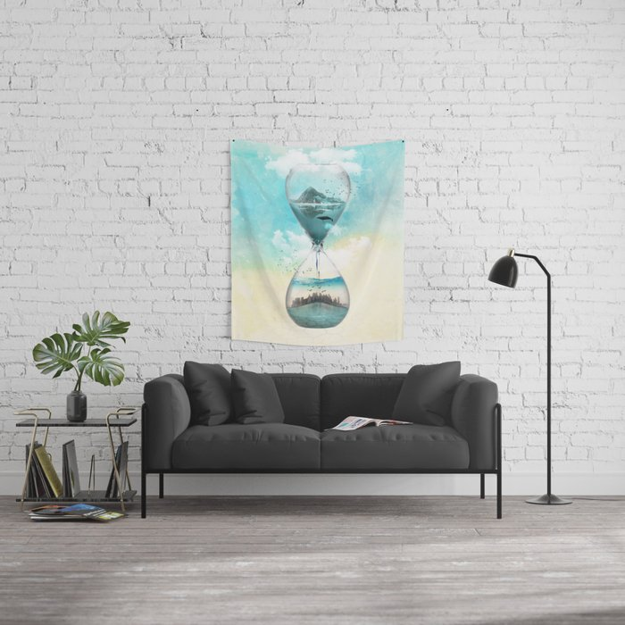 11th Hour Glass Wall Tapestry