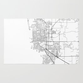 Minimal City Maps - Map Of Boulder, Colorado, United States Rug
