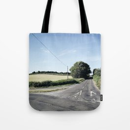 junction in the countryside Tote Bag