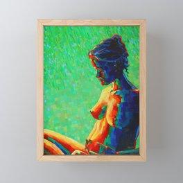 Cubistic woman (2011) Framed Mini Art Print