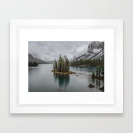 Landscape Maligne Lake Photography | Alberta | Canada Framed Art Print