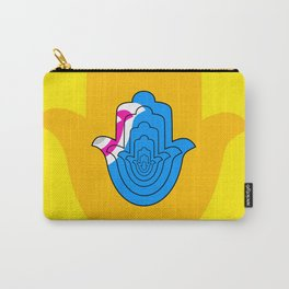 Pop Art Yellow Hamsa Hand Carry-All Pouch