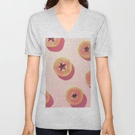 #01_Papaya in pink Unisex V-Neck