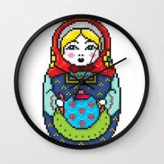 16bit Matrioska Wall Clock