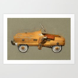 Roy Rogers Pedal Car Art Print